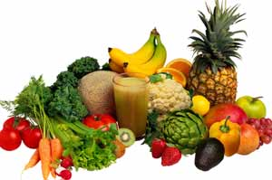 healthy fruits vegetables, antioxidants enzymes and fiber